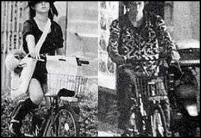 深田恭子と五十嵐麻朝の自転車